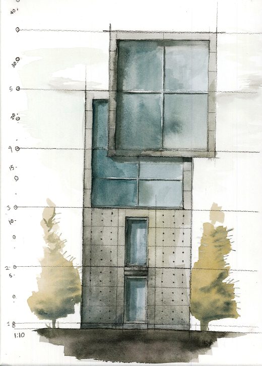 TadaoAndo_beachhouse_watercolor